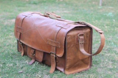 8c208936e7 20″Bag Men s Leather Vintage Duffle Luggage Weekend Gym Overnight Travel  Bag NEW